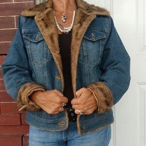 Jean Jacket Fun fur lined